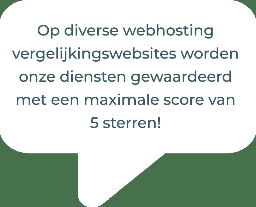 webhosting vergelijking